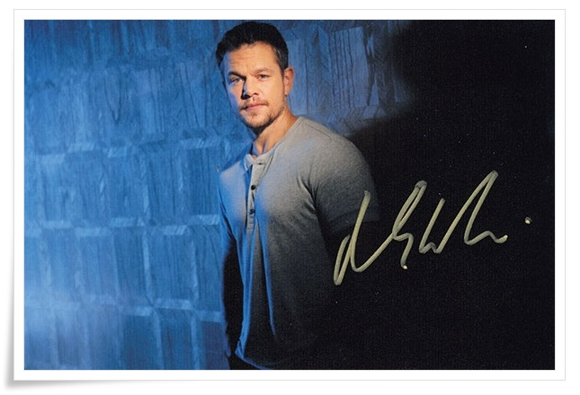 Matt Damon autographed signed photo 4*6 inches authentic freeshipping  01.2017 04<br>