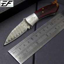 Eafengrow EF86 Damascus folding Knife Damascus Steel blade knife Outdoor Tool Hunting camping Knife pocket knife hand EDC tools