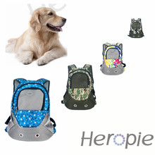 Heropie Pet Dog Cat Carrier Shoulders Back Front Pack Dog Cat Travel Bag Mesh Backpack Head out Design Travel Adjustable Strap