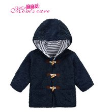 Mom's care Winter Hooded Childrens Coats Warm Thick Coral Velvet Jackets Girls Boys Outerwear 100% Cotton Lining Kids Clothes