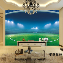 beibehang Wholesale photo murals football soccer background mural playground wallcoverings sports wall mural 3d papel de parede