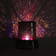Amazing Flashing Colorful Sky Star Master LED Night Light Lovely Sky Starry Star Projector Novelty Gifts Free Shipping(China)