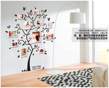 45*60  New design Family Photo Frame Tree Butterfly Flower Heart Mural Wall Sticker Home Decor Room Decals