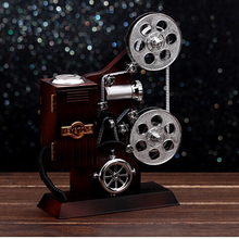 2016 Vintage film projector Musical Box Imitation wooden music box Creative birthday wedding Valentine gift(China)