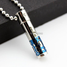 Hot Sale 3-in-1 Fashion Jewelry Men Women's Stainless Steel Perfume Bottle Couple Pendants Necklaces Gift MN441