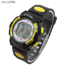 SmileOMG Silicone Kid's Watch Boy Girl Alarm Date Digital Multifunction Sport LED Light Wrist Watch  Christmas Gift,Sep 1