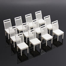 12pcs Model Railway Platform Park Street Seat Bench chair Settee 1:25 G Scale ZY38025 model building kit railway modeling(China)