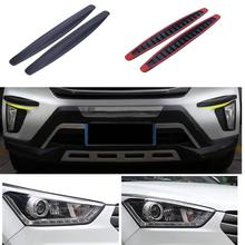 2pcs/set Car Rubber Bumper Protector Guards Corner Strip Crash Bar Trim Protection Door Lip Deflector Anti-Scratch Strips