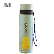 JOUDOO Cartoon Cute Portable Stainless Steel Thermos Mug 400ML Car Thermo Cup Coffee Tea Milk Travel Mug Thermol Bottle(China)
