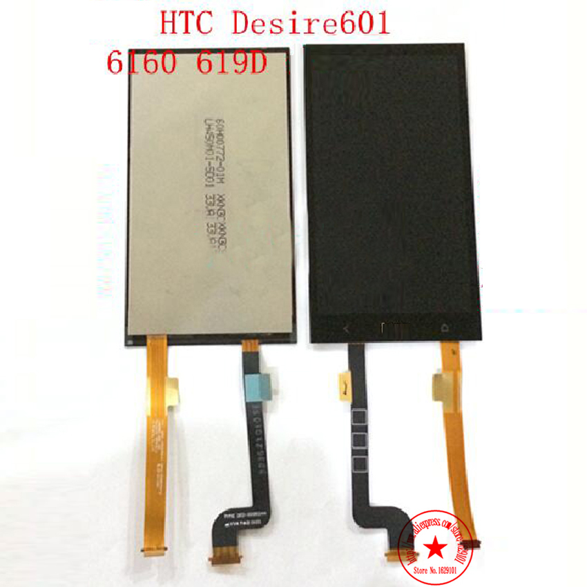 High Quality GOOD Working LCD Display with Touch Screen Digitizer Assembly For HTC Desire 601 Zara 6160 619D Replacement<br><br>Aliexpress