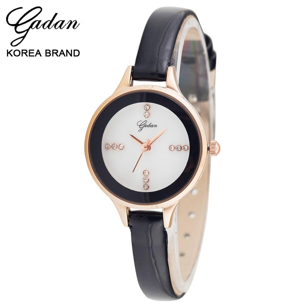 Authentic Korean yadan retro leisure fashion leather watch small dial waterproof quartz watches. Lady<br><br>Aliexpress