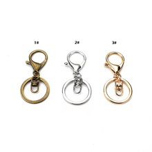 5pcs/lot Metal Key Rings Key Chains Antique Bronze Gold Rhodium Color 60mm Long Keyrings Split Rings KeyChains(China)