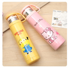 Vacuum Cup Schoolgirl Kitty Doraemon Originality Stainless Steel Lovely Lovers Kids With Cover Portable Outdoors Bottle(China)