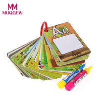 Hot Sale Stencils For Painting 26 Letters Children Water Painting Board Painted The Coloured Drawing Pattern Board Aqua Doodle(China)