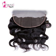 Ms Cat Hair Closure Ear To Ear 13*4 Body Wave Brazilian Hair Nature Color 100% Human Hair Lace Frontal