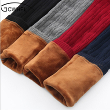 Grils Leggings 2017 Autumn Winter Children Striped Pants For KIds Thick Warm Elastic Waist Cotton Leggings Girl Pants Trousers