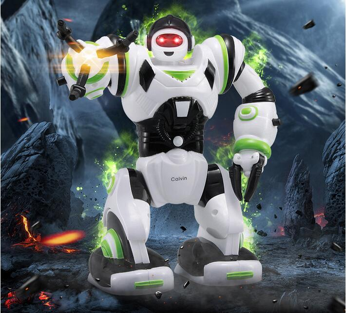 Feng Yuan 27106 mini version Multi-function acousto-optic smart robot Analog sound cool light arms swing Cartoon characters<br><br>Aliexpress