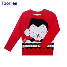 Boys Sweaters Winter Knitted Pullover Under Wear Pullover Printed Cartoon Lovely Sweater Kids Clothing Blusas De Malha Outerwear(China)