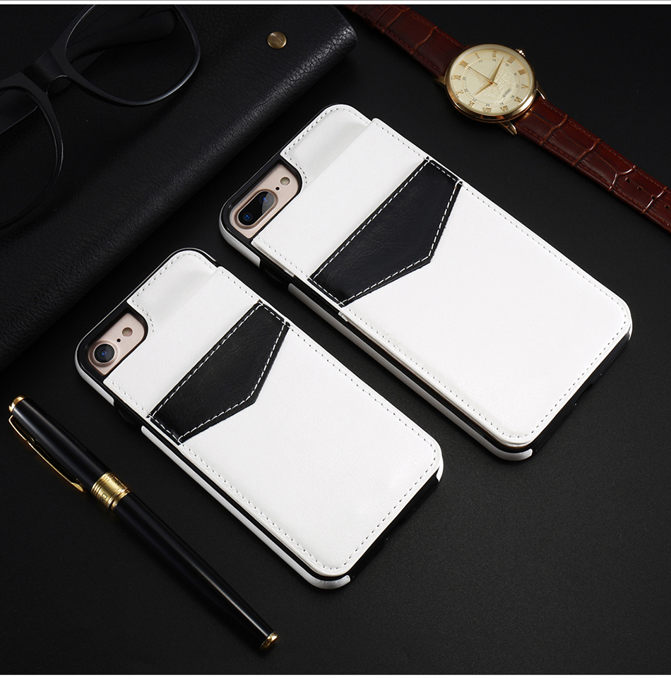 crazy horse vertical flip cover for iPhone 6 7 Plus (11)