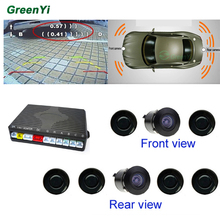 Car Video Parking Sensor System With 6 Sensors (2 Front, 4 Back) 2 Camera (1 Front, 1 Back) Show Distance At The Same Time