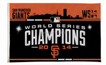 2014 World Series Champion San Francisco Giants Flag 150X90CM  MLB 3x5 FT Banner 100D Polyester flag grommets 009, free shipping