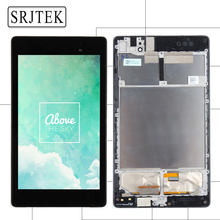 For ASUS Google Nexus 7 2nd 2013 FHD ME571 ME571K ME571KL K008 K009 LCD Display Touch Screen Panel Digitizer Assembly with Frame(China)