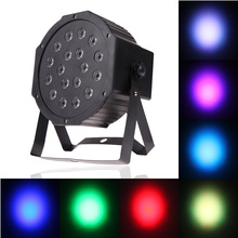 AC 110-220V 36W 18 LED Flat Par Lights Lamp  LED Stage Light with EU Plug for Club Party EU Standard MFBS