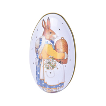 9 Styles Cartoon Print Easter Egg Eggshel Tin Boxes Pills Case Wedding Candy Box Can Jewelry Party Accessory