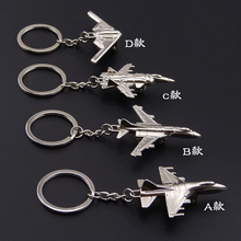 HOMOD New F-16 Fighter Model Keychain B-2 Bomber Plane Aircraft Air Plane Key Chain Ring Keyring Key(China)