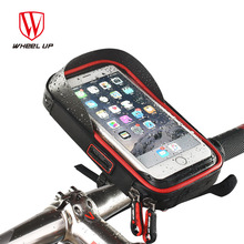 WHEEL UP New Design Cycling Phone Bag Rainproof Bike Cellphone Support Holder Bicycle Front Frame Bag Equipment