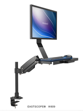 W809 Desktop Mount Full Motion Gas Spring Arm Computer Monitor Keyboard Mount Holder Stand Sit-Stand Workstation(China)