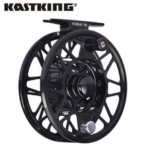 KastKing Kobuk Full Metal Fly Fishing Reel 2+1BB 1:1 Aluminum Alloy Die Casting Fly Reel Fishing Reel with Large Arbor