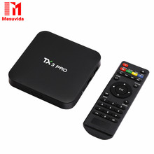 Mesuvida TX3 PRO Android 6.0 Amlogic S905X Quad core Set top box  1G 8G Android TV Box 2.4G WIFI Media Player Smart Tv Box