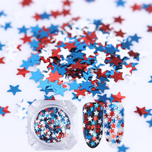 1.2g BORN PRETTY Star Nail Sequins White Blue Red Glitter Nail Art Paillette Nail Decoration Nail Flakes UV Gel Polish Color Gel