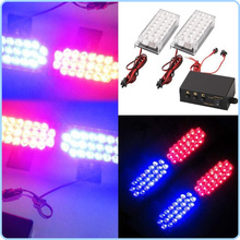LED Strobe Warning Ligh Emergency Vehicle Flash EMS Police Car Truck Firemen 2*22 2x22 12V White Red Blue Amber Yellow