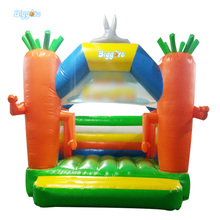 Mini Carrot Theme Fashion Style Mini Commercial Use Inflatable Bouncy House Bounce House(China)