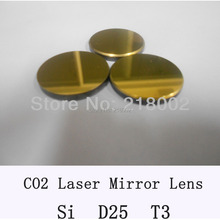 Si Co2 laser mirror 25mm diameter, thickness 3mm