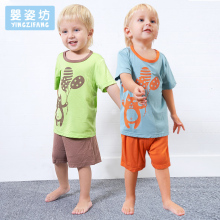 2017 Rushed Sale Yingzifang Summer Casual Pattern Cartoon Baby Boys Kids Children Cotton Clothing Set 2 Pieces T-Shirt + Shorts(China)