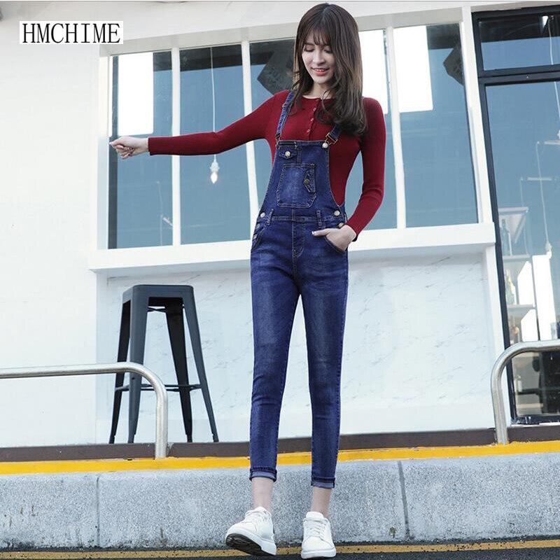 Women cotton elastic denim overalls Korean style high quality fashion vintage sexy jeans all match mid waist cowboy pants D227Одежда и ак�е��уары<br><br><br>Aliexpress