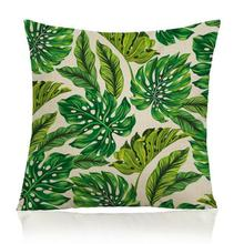 Factory Direct Supply Tropical Plants Hibiscus Parrot Printing Decorative Soft Short Plush Throw Pillow Cushion For Home