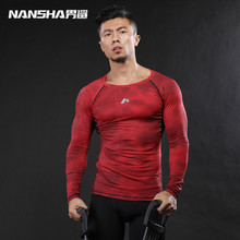 Buy Men T Shirts NANSHA Brand Mens Prints Long Sleeves T Shirt Men Bodybuilding Tight Compression Shirts MMA Crossfit Workout Tops for $9.98 in AliExpress store