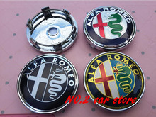 4pcs New Style Alfa Romeo 147 156 159 166 60mm car Wheel car styling Center Hub Cap and Wheel Dust-proof Badge emblem covers(China)