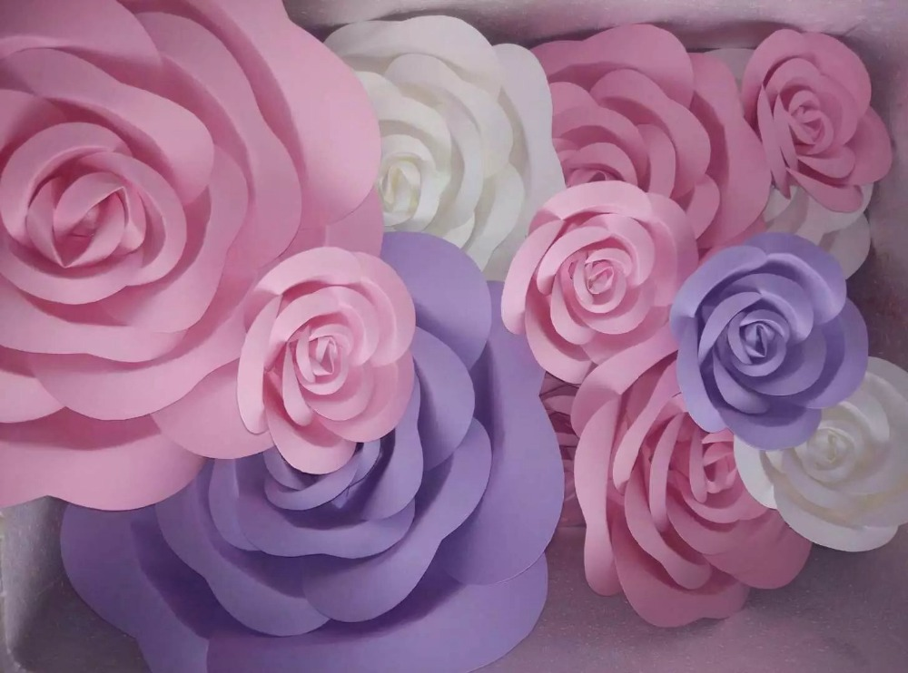 Aliexpress buy wedding props large artificial flower paper artificial flowers large paper flowers decoration paper flowers finished product pink roll up hem rose mightylinksfo