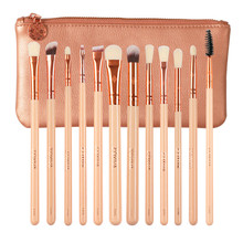 ZOYIVA 12Pcs Pink Rose Golden 325 142 221 227 232 288 230 235 322 310 238 180 EyeShadow Makeup Brushes Kits Sets(China)