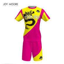 custom black yellow soccer jersey kit blank orange soccer jersey(China)