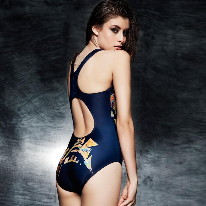 Printed Colorful Women One Piece Swimwear Professional Sports Bodysuit Female Classic Slimming Swimsuit Saida De Praia BrandXXXL<br>