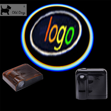 Wholesale car styling Wireless For Alfa romeo No Drilling Led Door Light Shadow welcome Logo Projector black lamp free shipping