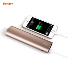 Besiter 10000mah External Battery Packs for Smart Phones Battery Cell Power Charger with LED Flash Light Aluminium Battery Packs