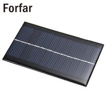Outdoor Camping Mini 6V 1W Solar Power Panel Solar System Module DIY For Light Battery Cell Phone Toys Chargers Portable(China)