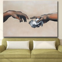 Mklql Wall Graffiti Art Everyone Has His Price Wall oil Painting Print Nice Wall Picture For Living Room No Framed(China)